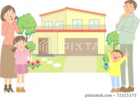 選擇自己的家的微笑家庭 72325373