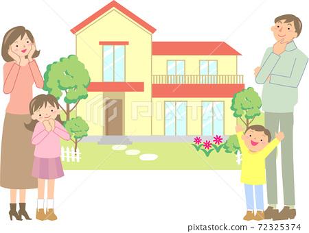 選擇自己的家的微笑家庭 72325374