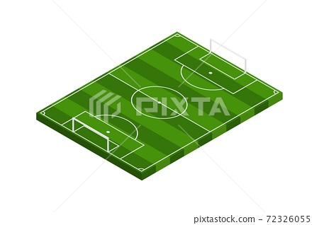 Isometric football field vector illustration 72326055
