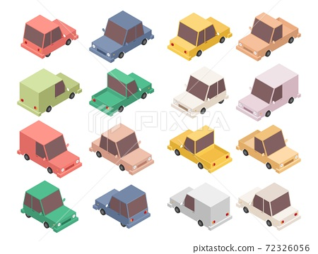 Isometric car set vector illustration isolated on white background 72326056