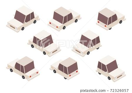 Isometric car set vector illustration isolated on white background 72326057