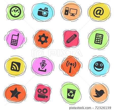social media icon set 72326139