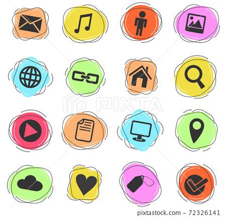 social media icon set 72326141