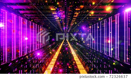 Glowing space particles science fiction 3d illustration background wallpaper 72326637