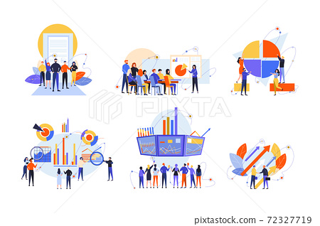 Stock trading, stakeholder, investment, analysis, business set concept 72327719