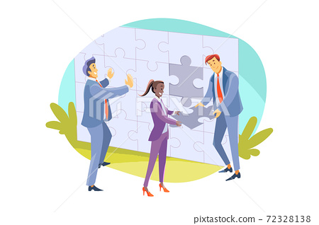 Team, teamwork, partnership, cooperation, business concept 72328138