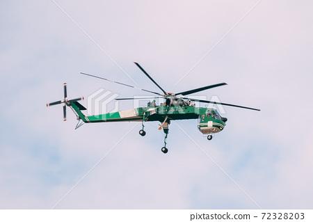 Aerial Crane Or Flying Crane Flying In Sky 72328203