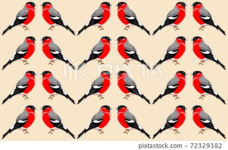 Wallpaper with red-bellied clark bird pattern. Winter birds theme 72329382