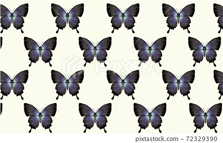 Pattern composed of blue and black butterflies. Vintage wallpaper style 72329390