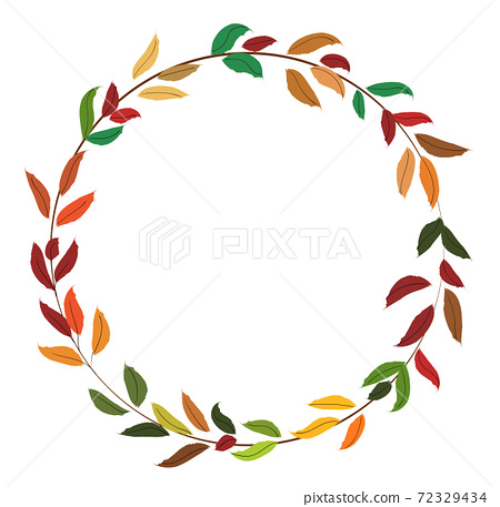 Abstract circle made from colorful autumn season leaves 72329434
