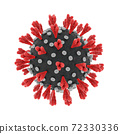3d render of a coronavirus germ isolated on white background 72330336