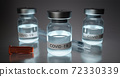 Realistic 3D render illustration of covid-19 vaccine 72330339
