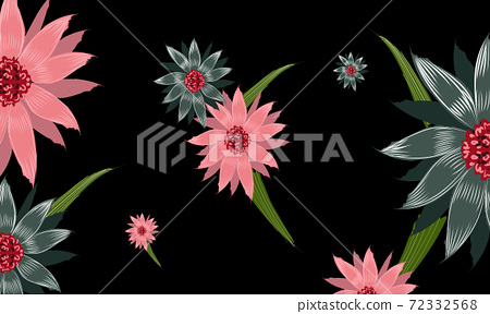 Composition of flowers with multiple long and thin petals 72332568