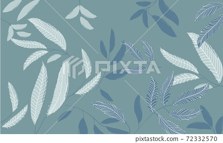 Abstract pattern of twigs and leaves. Eucalyptus plant 72332570