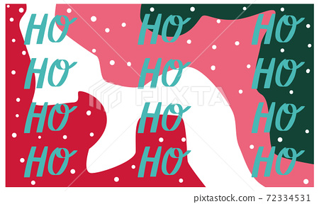 Christmas themed abstract colorful pattern with calligraphy writing 72334531