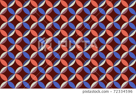 Abstract pattern of circles composed from geometrical shapes 72334596
