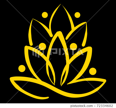 Composition of an abstract hindi water lily flower 72334602