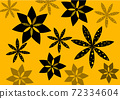 Abstract composed pattern with flowers using geometrical shapes 72334604