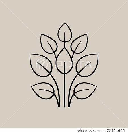Composition of a bunch of leaves. Autumnal themed logo 72334606