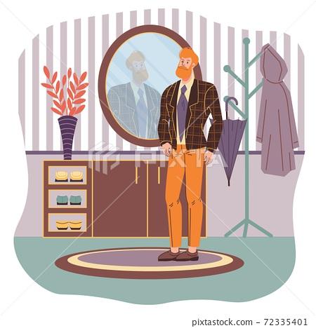 Flat cartoon character vector illustration concept 72335401