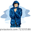 Man In Down Jacket 02 72335586