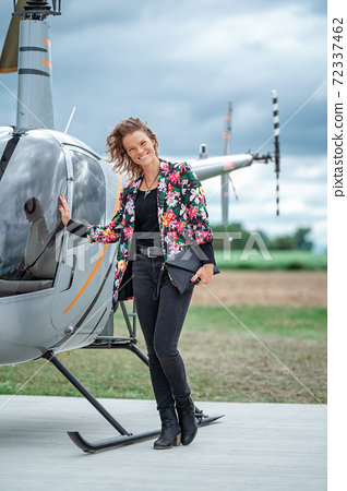 helicopter private transport for businessmen and businesswomen 72337462