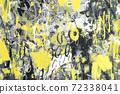 Hand drawn modern Multi Colored mixed media art canvas 72338041