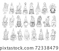Gnomes Vector Bundle. Collection on Santa hat gnomes, Easter and Valentines Day Gnomies 72338479