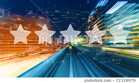 Rating star concept with high speed motion blur 72339079