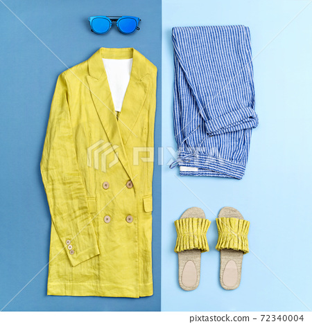 Illuminating yellow coloured female summer outfit. 72340004