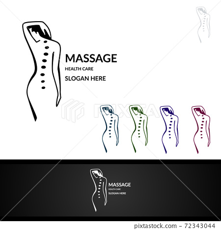 Chiropractic, massage, back pain and osteopathy Logo Design 72343044