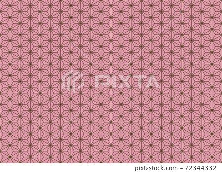 無縫花紋流行於魔鬼的日本傳統花紋<大麻葉> 72344332