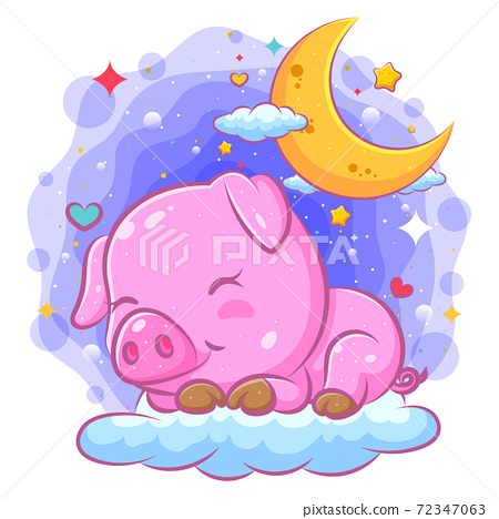 cartoon, pig, vector 72347063