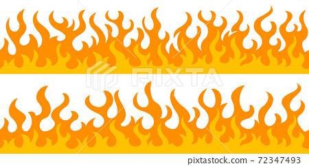 Fire flame frame borders 72347493