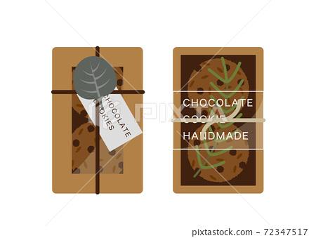 包裝的巧克力餅乾圖 72347517