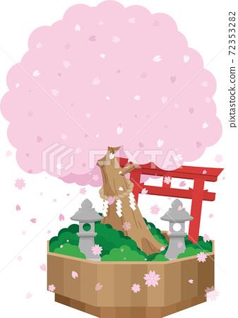 櫻花和Torii Torii 72353282