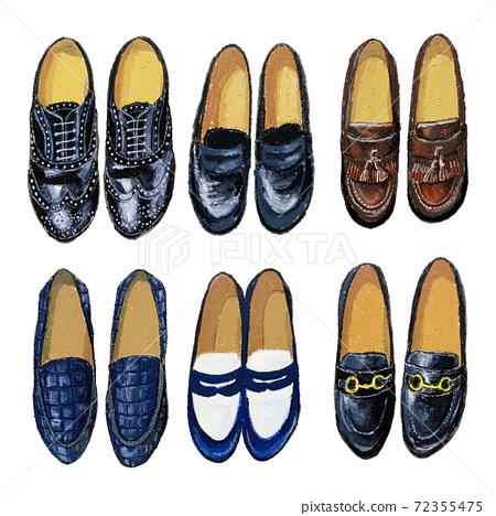 時尚皮鞋油粉彩 72355475