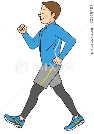 Young men walking 72359487
