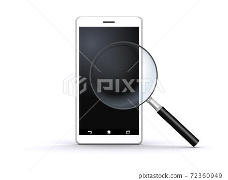 Bug眼鏡和智能手機 72360949