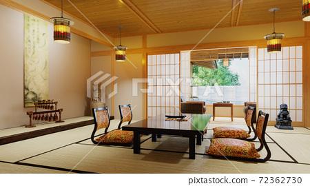 Japanese interior deisgn. Modern japan room 72362730