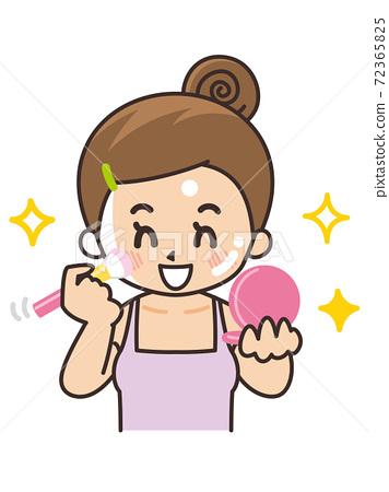女人應用柚木美容美容化妝 72365825