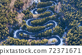 curved road trough the forest 72371671