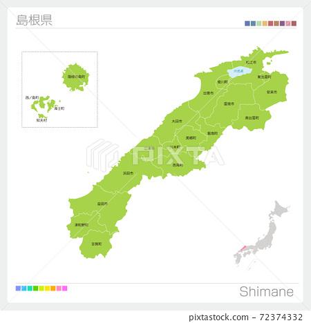Shimane Prefecture Map / Shimane / Municipal Names (Municipalities / Classification) 72374332