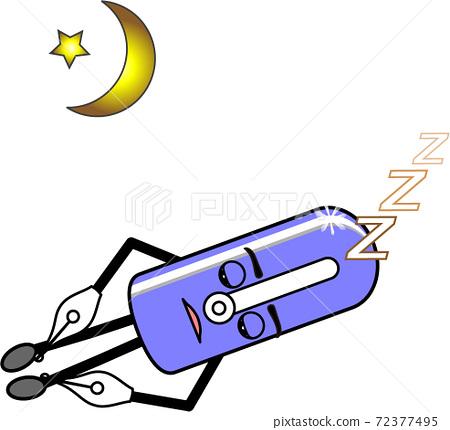 人物 睡覺 月亮 72377495