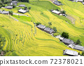 Beautiful view of Rice terrace and houses at Hoang Su Phi. Viewpoint in Hoang Su Phi district, Ha Giang province, Vietnam 72378021