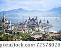 stylized fairytale Castle at Vinpearl Land park, at NHA TRANG, VIET NAM 72378029
