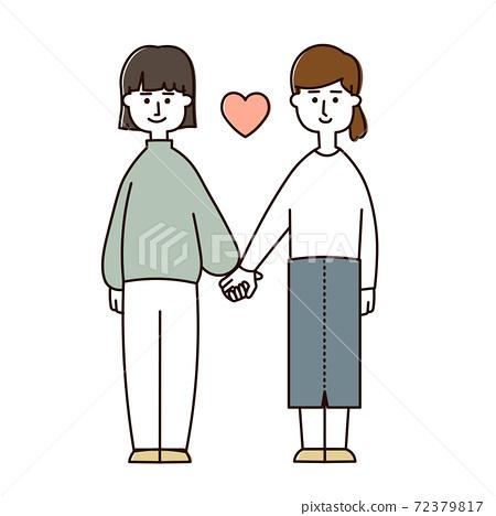 여성 커플 (캐주얼) 72379817