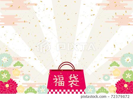 幸運袋新年背景 72379872