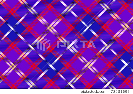 Abstract textile check plaid seamless pattern 72381692