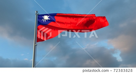 3d rendering of the national flag of the Taiwan 72383828